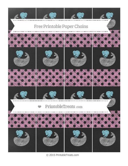 Free Pastel Bubblegum Pink Polka Dot Chalk Style Whale Paper Chains