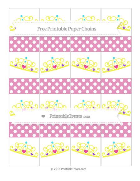 Free Pastel Bubblegum Pink Polka Dot Princess Tiara Paper Chains