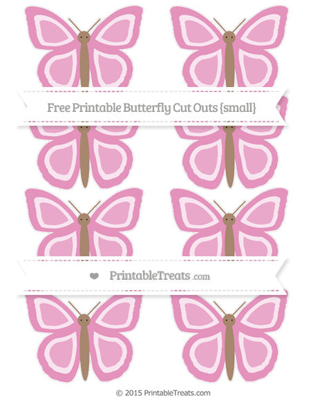 Free Pastel Bubblegum Pink Small Butterfly Cut Outs