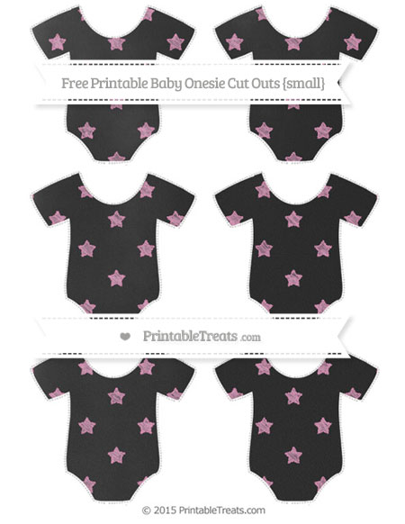 Free Pastel Bubblegum Pink Star Pattern Chalk Style Small Baby Onesie Cut Outs