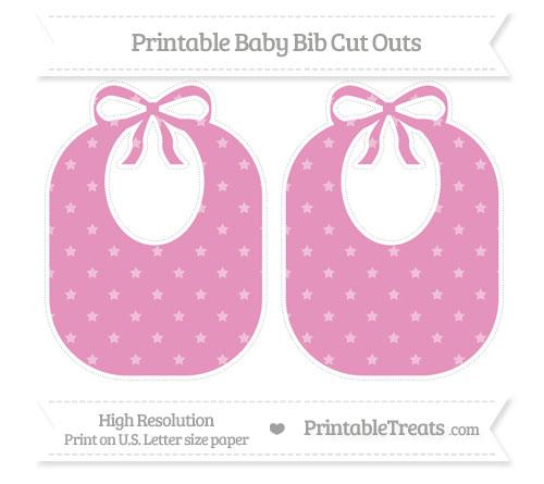 Free Pastel Bubblegum Pink Star Pattern Large Baby Bib Cut Outs