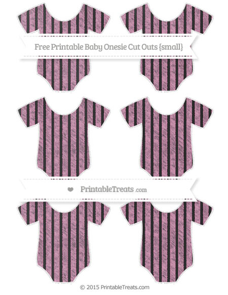 Free Pastel Bubblegum Pink Thin Striped Pattern Chalk Style Small Baby Onesie Cut Outs