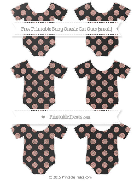 Free Pastel Coral Dotted Pattern Chalk Style Small Baby Onesie Cut Outs