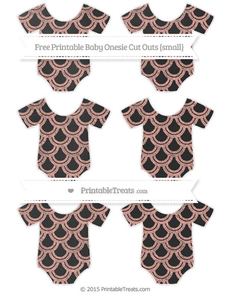 Free Pastel Coral Fish Scale Pattern Chalk Style Small Baby Onesie Cut Outs