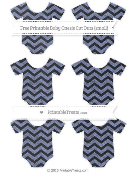 Free Pastel Dark Blue Chevron Chalk Style Small Baby Onesie Cut Outs