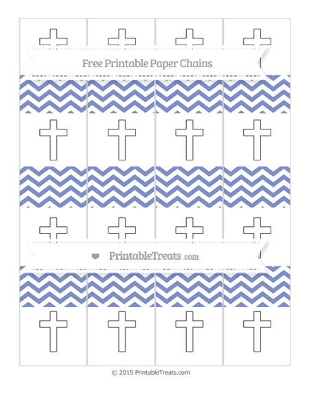 Free Pastel Dark Blue Chevron Cross Paper Chains