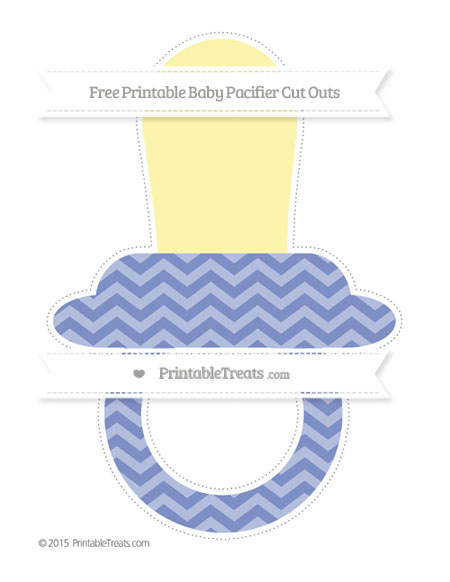 Free Pastel Dark Blue Chevron Extra Large Baby Pacifier Cut Outs