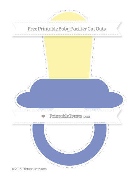 Free Pastel Dark Blue Extra Large Baby Pacifier Cut Outs