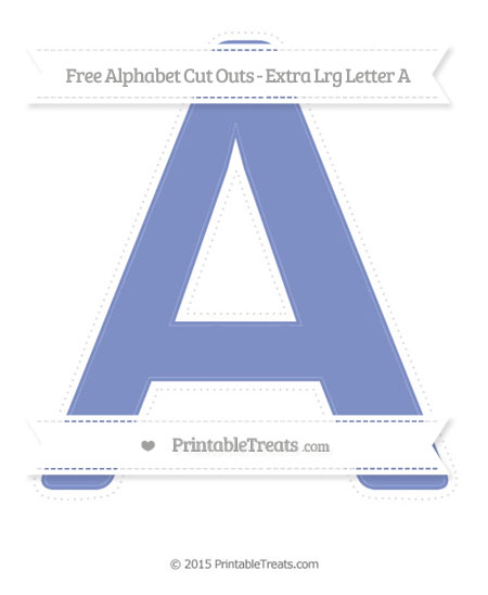 Free Pastel Dark Blue Extra Large Capital Letter A Cut Outs