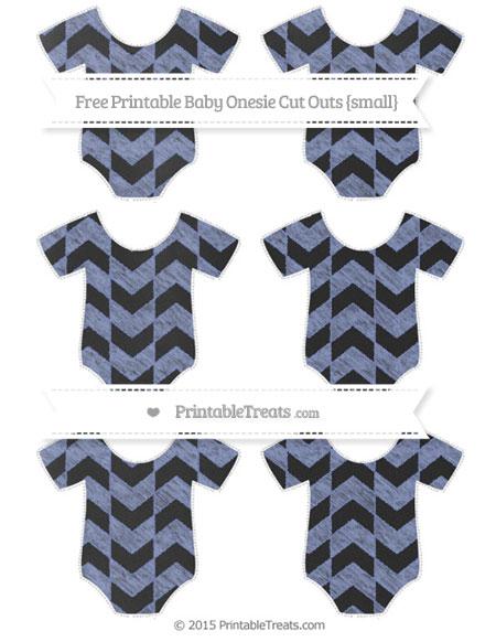 Free Pastel Dark Blue Herringbone Pattern Chalk Style Small Baby Onesie Cut Outs