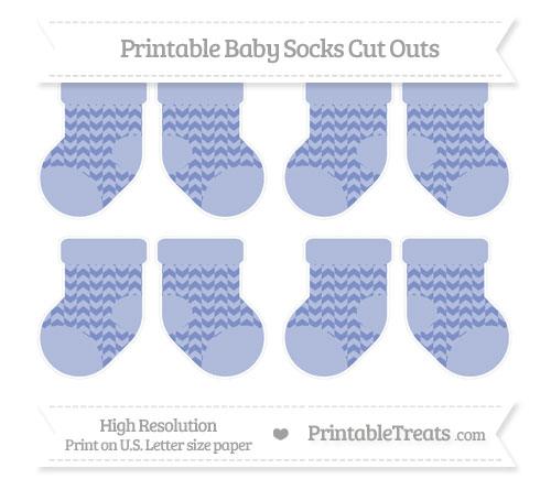 Free Pastel Dark Blue Herringbone Pattern Small Baby Socks Cut Outs