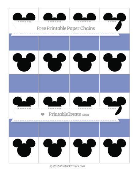 Free Pastel Dark Blue Mickey Mouse Paper Chains