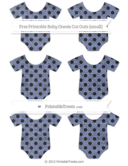 Free Pastel Dark Blue Polka Dot Chalk Style Small Baby Onesie Cut Outs