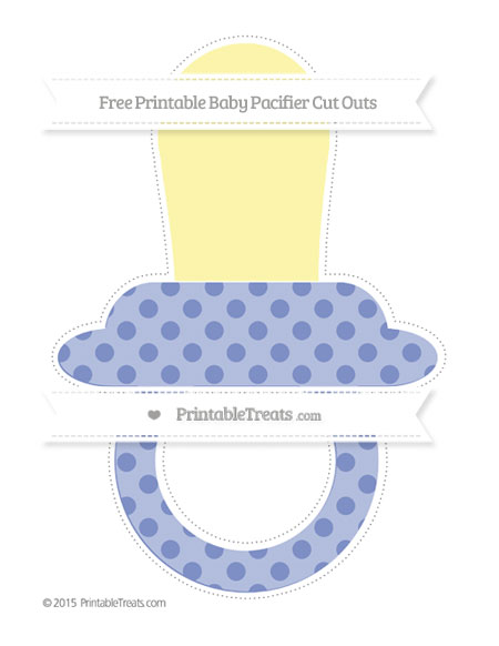 Free Pastel Dark Blue Polka Dot Extra Large Baby Pacifier Cut Outs