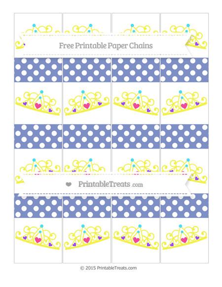 Free Pastel Dark Blue Polka Dot Princess Tiara Paper Chains