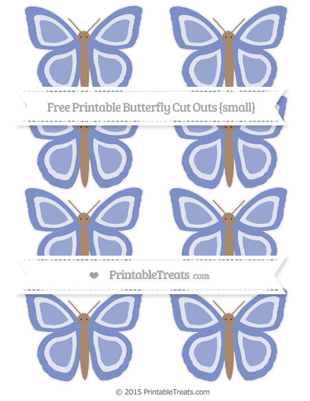 Free Pastel Dark Blue Small Butterfly Cut Outs