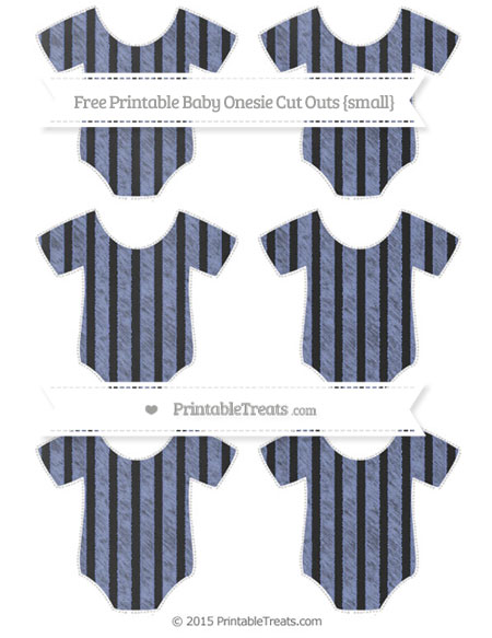 Free Pastel Dark Blue Striped Chalk Style Small Baby Onesie Cut Outs