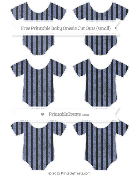 Free Pastel Dark Blue Thin Striped Pattern Chalk Style Small Baby Onesie Cut Outs