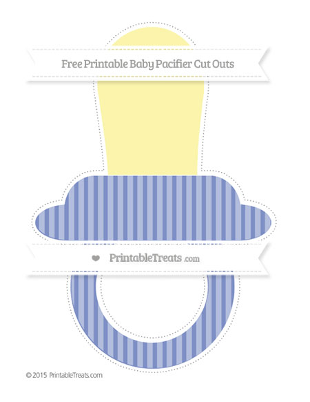 Free Pastel Dark Blue Thin Striped Pattern Extra Large Baby Pacifier Cut Outs