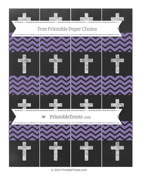 Free Pastel Dark Plum Chevron Chalk Style Cross Paper Chains
