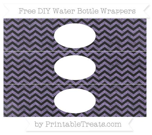 Free Pastel Dark Plum Chevron Chalk Style DIY Water Bottle Wrappers