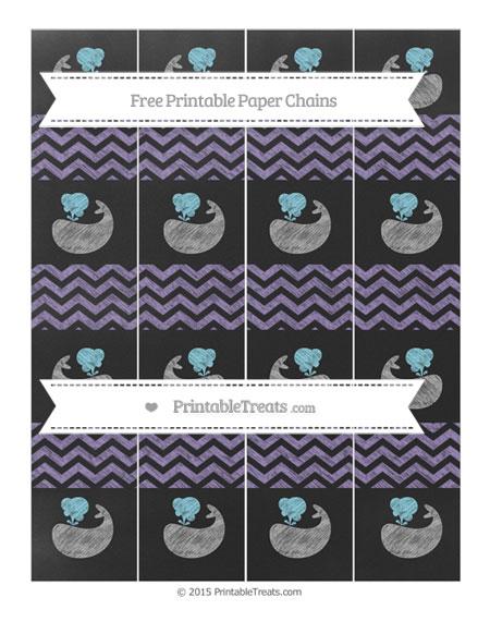 Free Pastel Dark Plum Chevron Chalk Style Whale Paper Chains