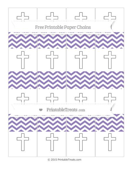 Free Pastel Dark Plum Chevron Cross Paper Chains