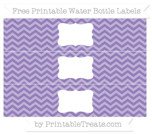 Free Pastel Dark Plum Chevron Water Bottle Labels