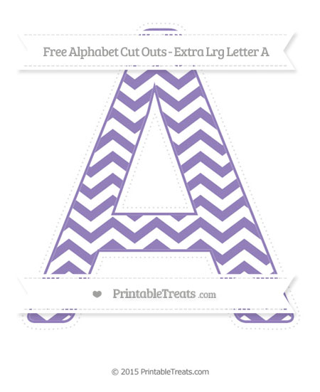 Free Pastel Dark Plum Chevron Extra Large Capital Letter A Cut Outs