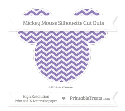 Free Pastel Dark Plum Chevron Extra Large Mickey Mouse Silhouette Cut Outs