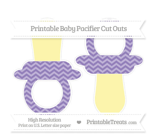 Free Pastel Dark Plum Chevron Large Baby Pacifier Cut Outs