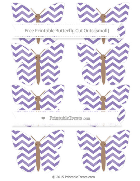 Free Pastel Dark Plum Chevron Small Butterfly Cut Outs