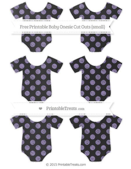 Free Pastel Dark Plum Dotted Pattern Chalk Style Small Baby Onesie Cut Outs