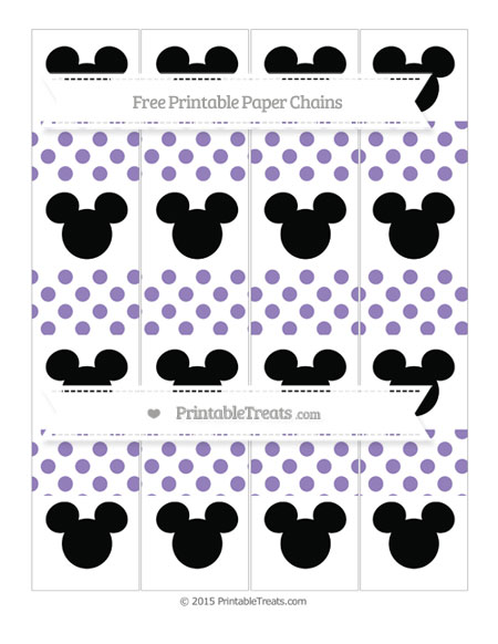 Free Pastel Dark Plum Dotted Pattern Mickey Mouse Paper Chains