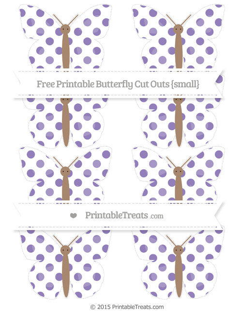 Free Pastel Dark Plum Dotted Pattern Small Butterfly Cut Outs