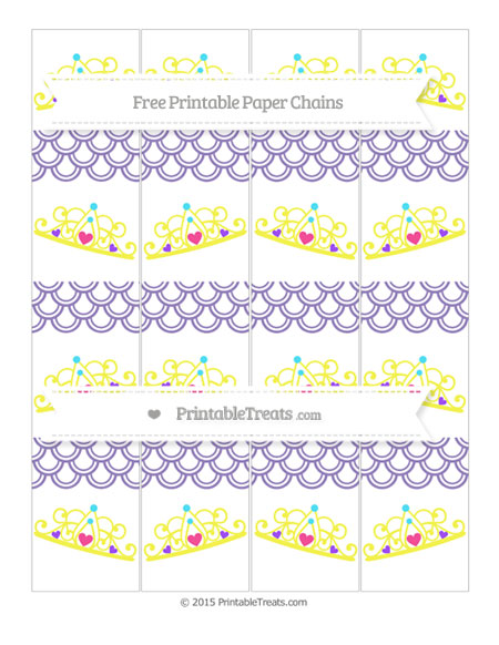Free Pastel Dark Plum Fish Scale Pattern Princess Tiara Paper Chains