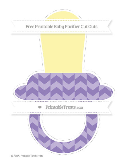Free Pastel Dark Plum Herringbone Pattern Extra Large Baby Pacifier Cut Outs