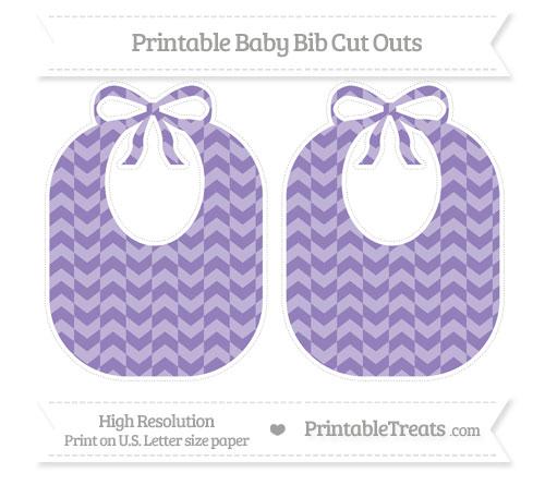 Free Pastel Dark Plum Herringbone Pattern Large Baby Bib Cut Outs