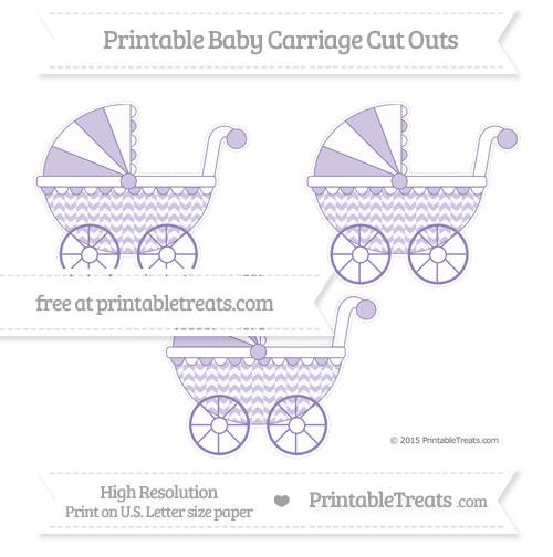 Free Pastel Dark Plum Herringbone Pattern Medium Baby Carriage Cut Outs