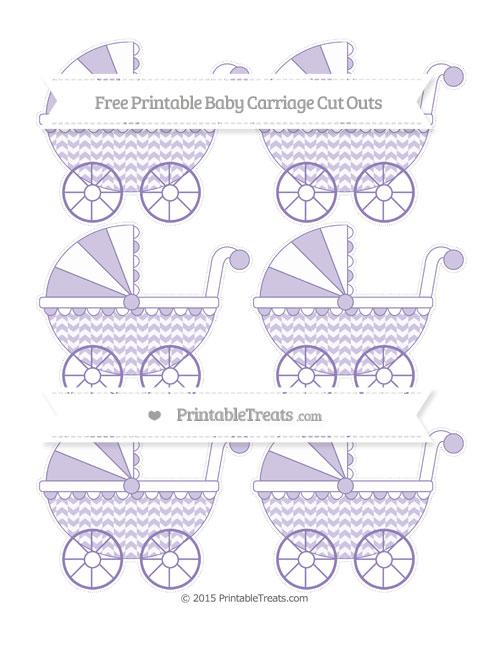 Free Pastel Dark Plum Herringbone Pattern Small Baby Carriage Cut Outs