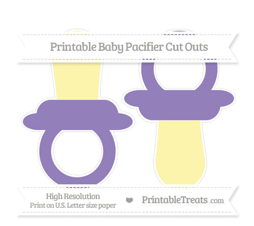Free Pastel Dark Plum Large Baby Pacifier Cut Outs