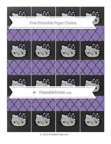 Free Pastel Dark Plum Moroccan Tile Chalk Style Hello Kitty Paper Chains