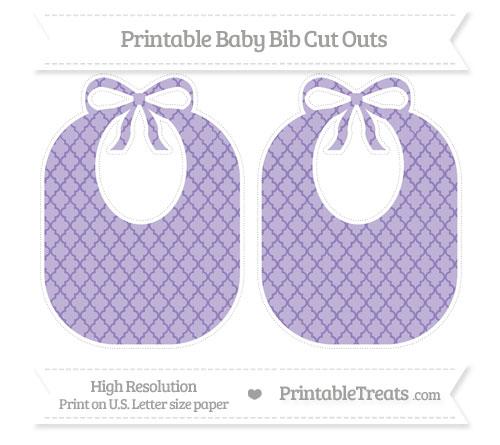 Free Pastel Dark Plum Moroccan Tile Large Baby Bib Cut Outs