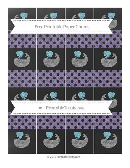 Free Pastel Dark Plum Polka Dot Chalk Style Whale Paper Chains