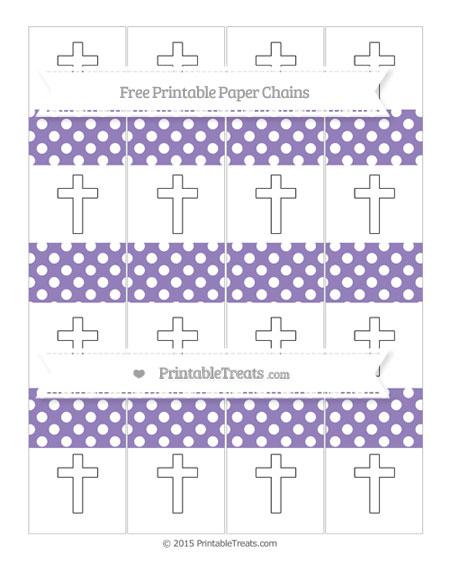 Free Pastel Dark Plum Polka Dot Cross Paper Chains