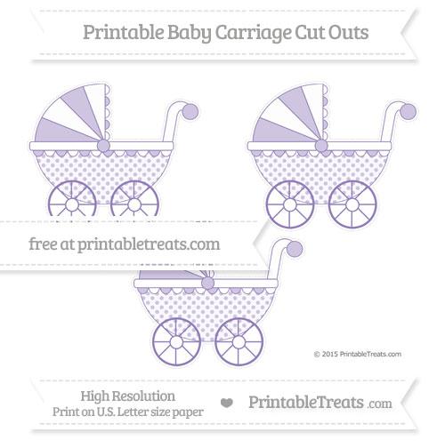 Free Pastel Dark Plum Polka Dot Medium Baby Carriage Cut Outs