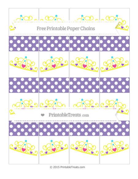 Free Pastel Dark Plum Polka Dot Princess Tiara Paper Chains