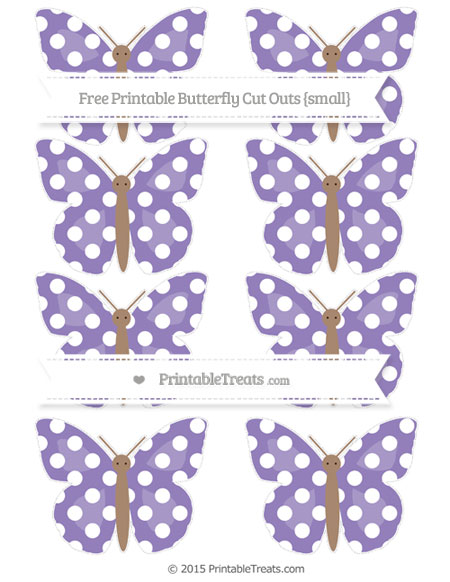 Free Pastel Dark Plum Polka Dot Small Butterfly Cut Outs