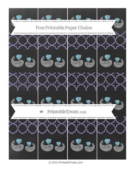 Free Pastel Dark Plum Quatrefoil Pattern Chalk Style Baby Whale Paper Chains