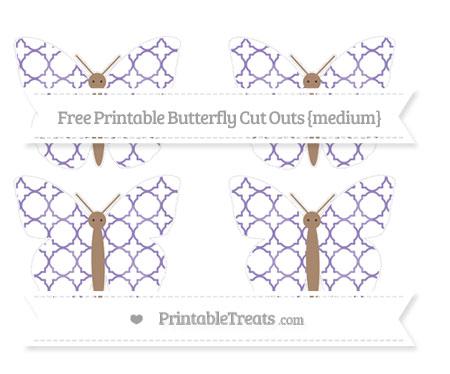 Free Pastel Dark Plum Quatrefoil Pattern Medium Butterfly Cut Outs